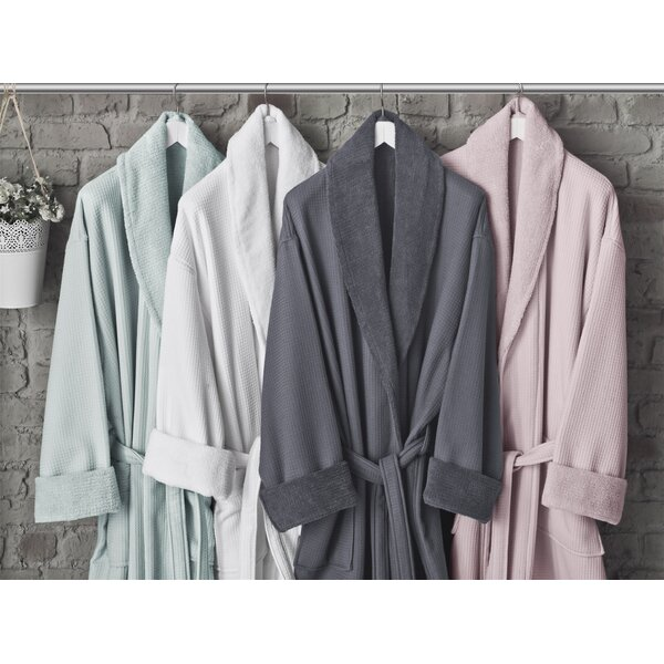 Astrid 100% Turkish Cotton Bathrobe by Alwyn Home